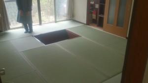 畳敷き完成