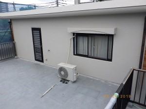 塗装面上塗り完了状況(2階西面)