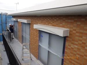 塗装面上塗り完了状況(2階南面)