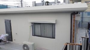 外壁中塗り状況(2階西面)