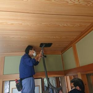 吉田邸和室天井換気扇清掃